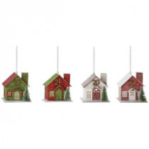 Martha Stewart Living House Advent Calendar Ornament (Set of 24)-9783700110 300259571