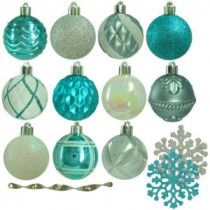 Martha Stewart Living Winter Wishes Shatter-Resistant Assorted Ornament (101-Count)-HE-968 207045411