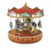 Mr. Christmas 13 in. Dia Animated Musical Vintage Carousel-19977 207018248