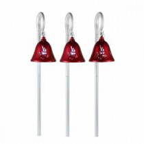 Mr. Christmas 44 in. Red Musical Pathway Bells with Shepherd's Hooks (Set of 3)-60742 207213011
