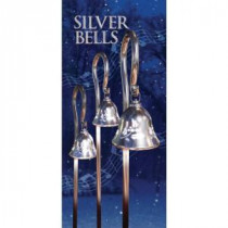 Mr. Christmas 44 in. Silver Musical Pathway Bells with Shepherd's Hooks (Set of 3)-60741 207213010
