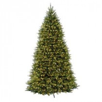 National Tree Company 12 ft. Pre-Lit Dunhill Fir Hinged Artificial Christmas Tree with Clear Lights-DUH-120LO-S 202214959