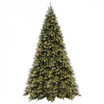 National Tree Company 12 ft. Tiffany Fir Medium Artificial Christmas Tree with Clear Lights-TFMH-120LO 205331325
