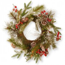National Tree Company 18 in. Pine Cone Artificial Wreath-RAC-W060495A 300154670