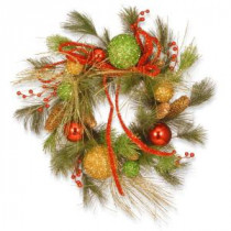 National Tree Company 20 in. Ornament Artificial Wreath-RAC-W060372A 300154659