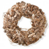 National Tree Company 22 in. Pinecone Artificial Wreath-RAC-W060410A 300154651