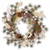 National Tree Company 24 in. White Berry Holiday Artificial Wreath-RAC-14459W24 300154650
