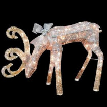National Tree Company 28 in. Reindeer Decoration with Clear Lights-DF-070003U 205577224