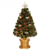 National Tree Company 3 ft. Fiber Optic Double Bell Artificial Christmas Tree-SZFX7-165L-36 300496172