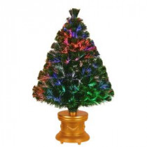 National Tree Company 3 ft. Fiber Optic Fireworks Evergreen Artificial Christmas Tree-SZEX7-100-36-1 205331309