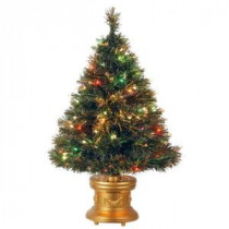 National Tree Company 3 ft. Fiber Optic Ice Artificial Christmas Tree with Multicolor Lights-SZIX7-102-36-1 205331313