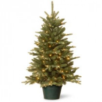 National Tree Company 36 in. Everyday Collection Evergreen Tree with Clear Lights-ED3-307-30 300478171