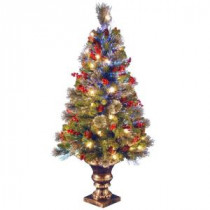 National Tree Company 4 ft. Fiber Optic Crestwood Spruce Artificial Christmas Tree-SZCW7-105-40 205331400