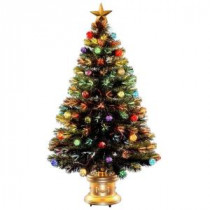 National Tree Company 4 ft. Fiber Optic Fireworks Artificial Christmas Tree with Ball Ornaments-SZOX7-100-48 205331403