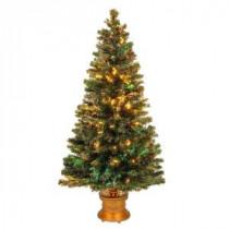 National Tree Company 5 ft. Fiber Optic Fireworks Evergreen Artificial Christmas Tree-SZEX7-100-60 205331310