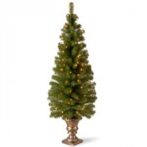 National Tree Company 5 ft. Montclair Spruce Entrance Artificial Christmas Tree with Clear Lights-MC7-308-50 300120620
