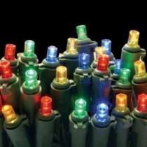National Tree Company 50-Light LED Multi-Color Concave Bulb Light String Set-LS-878-50 205331468