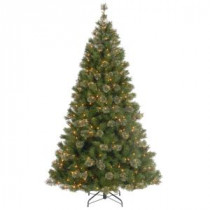National Tree Company 7-1/2 ft. Atlanta Spruce Hinged Artificial Christmas Tree with 550 Clear Lights-AT7-307-75 207183115