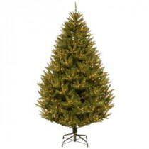 National Tree Company 7-1/2 ft. Feel Real California Cedar Medium Hinged Artificial Christmas Tree with 600 Clear Lights-PECF3-302-75 207183224