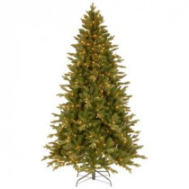 National Tree Company 7-1/2 ft. Feel Real in Avalon Spruce Hinged Artificial Christmas Tree with 500 Clear Lights-PEAV7-309-75 207183220