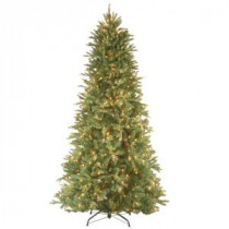 National Tree Company 7-1/2 ft. Feel Real Tiffany Fir Slim Hinged Artificial Christmas Tree with 600 Clear Lights-PETF3-304-75 207183318
