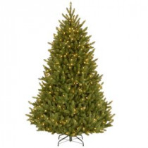 National Tree Company 7-1/2 ft. Natural Fraser Medium Fir Hinged Artificial Christmas Tree with 750 Clear Lights-NAFFMH7-75LO 207183198
