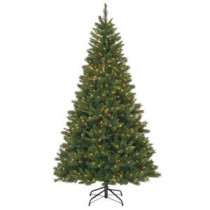National Tree Company 7-1/2 ft. Oxford Pine Hinged Artificial Christmas Tree with 700 Clear Lights-OX4-307-75 207183213