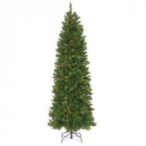 National Tree Company 7-1/2 ft. Pennington Fir Hinged Pencil Artificial Christmas Tree with 350 Clear Lights-PNG7-300-75 207183325