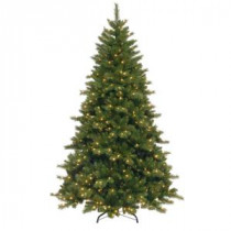 National Tree Company 7-1/2 ft. Portland Pine Hinged Artificial Christmas Tree with 750 Clear Lights-PP3-300-75 207183326