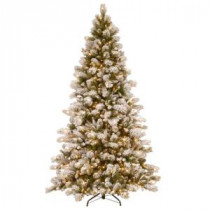 National Tree Company 7-1/2 ft. Snowy Westwood Pine Hinged Artificial Christmas Tree with 650 Clear Lights-SWP3-307-75 207183331