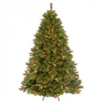 National Tree Company 7-1/2 ft. Winchester Pine Hinged Artificial Christmas Tree with 500 Multicolor Lights-WCH7-301-75 207183340