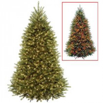 National Tree Company 7.5 ft. Dunhill Fir Artificial Christmas Tree with Dual Color LED Lights-DUG7-330D-75 207183143