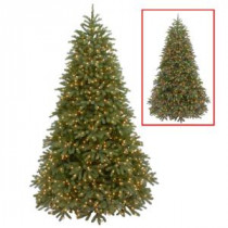 National Tree Company 7.5 ft. Jersey Fraser Fir Medium Artificial Christmas Tree with Dual Color LED Lights-PEJF1-302LD-75 207183275