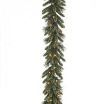 National Tree Company 9 ft. x 10 in. Glittery Gold Pine Garland with Glitter, Gold Cones, Gold Glittered Berries-GPG3-341-9A 205299297