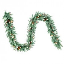 National Tree Company 9 ft. Copenhagen Blue Spruce Artificial Garland with Pinecones and 50 Multi-Color Lights-PECG3-301-9B 206084836