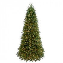 National Tree Company 9 ft. Feel Real Jersey Frasier Fir Slim Hinged Artificial Christmas Tree with Clear Lights-PEJF1-304-90 207183278