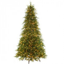 National Tree Company 9 ft. Feel-Real Northern Frasier Artificial Christmas Tree with Clear Lights-PENO4-300EP-90X 205983423