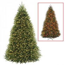 National Tree Company 9 ft. PowerConnect Dunhill Fir Artificial Christmas Tree with Dual Color LED Lights-DUH3-D00-90 207183147