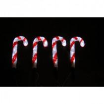 Novolink 14 in. 80-Light White LED Decorative Candy Cane (Set of 4)-AS-CC4-35 300258002