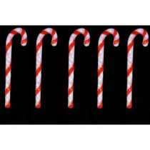 Novolink 29 in. 150 White LED Decorative Candy Cane (Set of 5)-AS-CC5 206455924