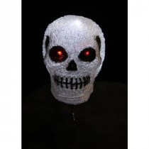 Novolink 7.9 in. H 10-Light White LED Decorative Skull Light-AS-SKL10 300256702
