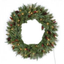 Santa's Workshop 36 in. Highland Artificial Christmas Wreath with UL Lights-14452 207146531