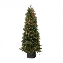 Santa's Workshop 6 ft. Pre-Lit Green Spruce PE Artificial Christmas Tree with Lights-15480 206516484