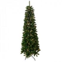 Santa's Workshop 6.5 ft. Indoor Pre-Lit Slim Artificial Tree with Lights-13500 206456932