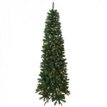 Santa's Workshop 7.5 ft. Indoor Pre-Lit Slim Artificial Tree with Lights-13510 206456933