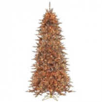 Sterling 7.5 ft. Pre-Lit Layered Copper and Silver Frasier Fir Artificial Christmas Tree with Clear Lights-6027--75CP 206482515