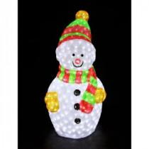XEPA 35 in. Decorative Snowman Sculpture LED Light-EHX-OS1025 204688630